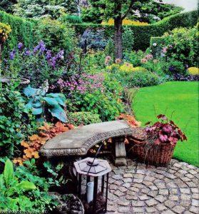 патио в английском саду